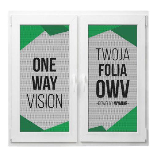 folia okienna z nadrukiem prześwitująca OWV