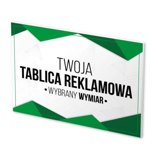 tablica reklamowa z nadrukiem według projektu